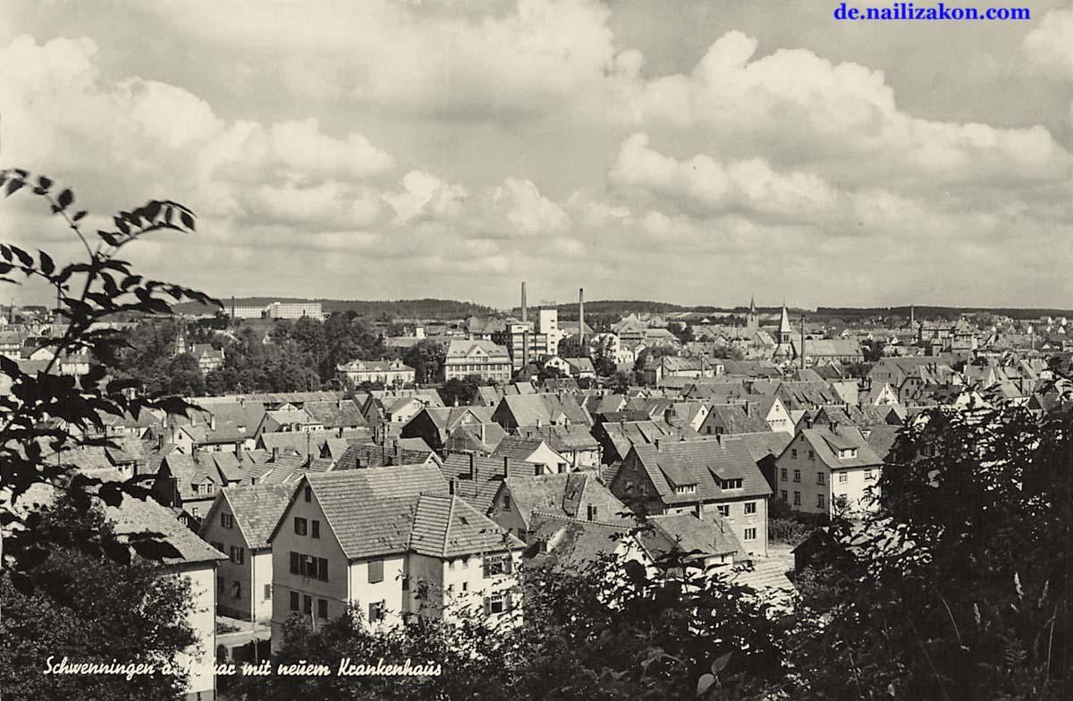 Villingen-Schwenningen. Panorama der Stadt mit neuem Krankenhaus