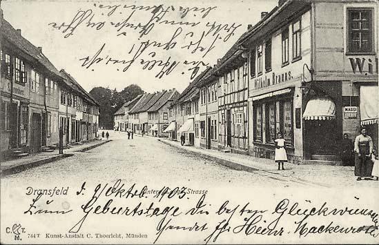 Dransfeld. Untere Lange Straße, Geschäft Wilhelm Brauns