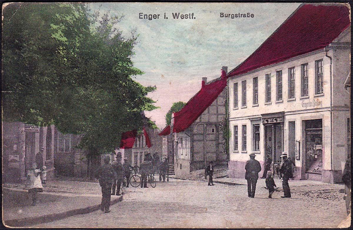 Enger. Burgstraße, 1918