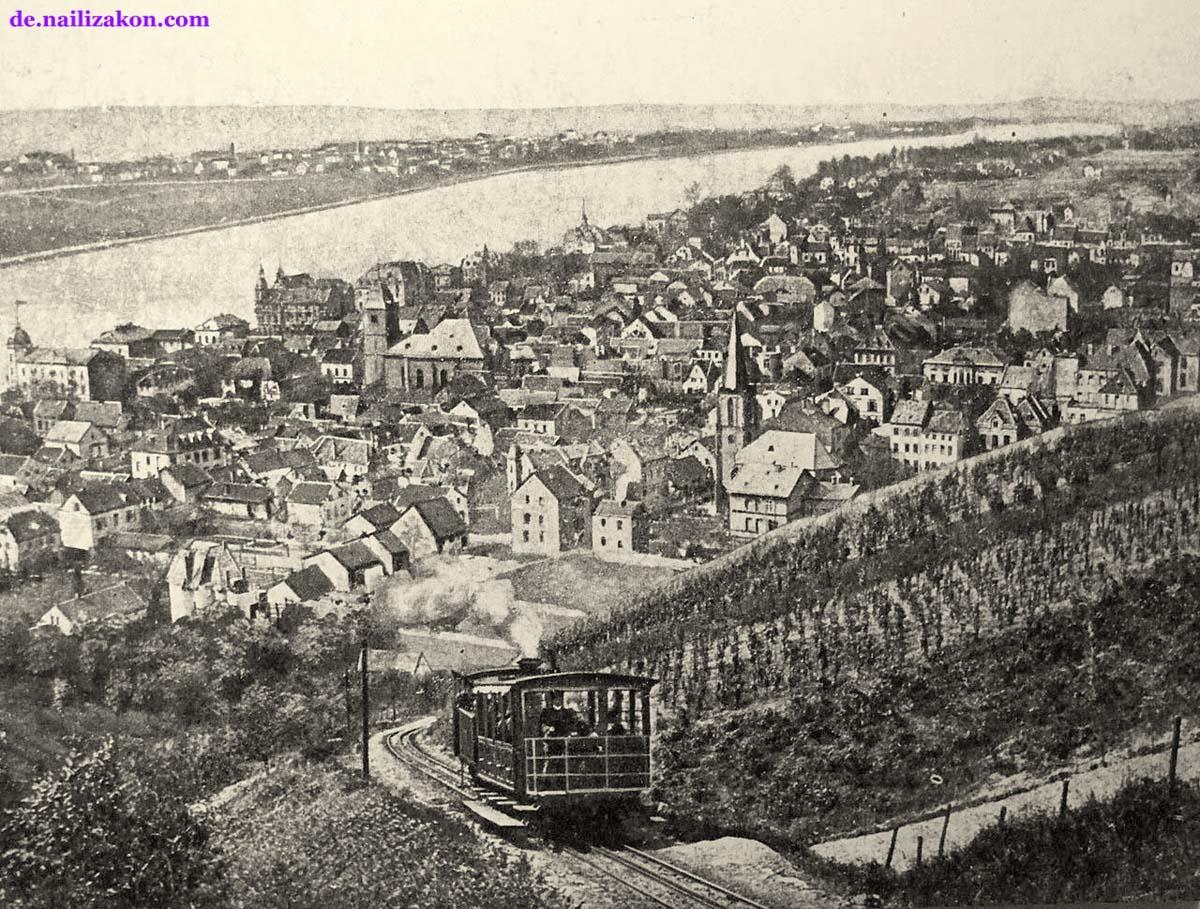 Königswinter. Drachenfelsbahn und Königswinter, 1900